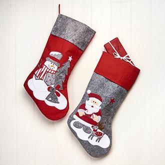 Grå/rød Julesok, Julemand med navn